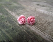 THE ROSETTE EARRINGS - Nude