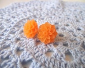 THE DAHLIA EARRINGS - Orange Creamcicle