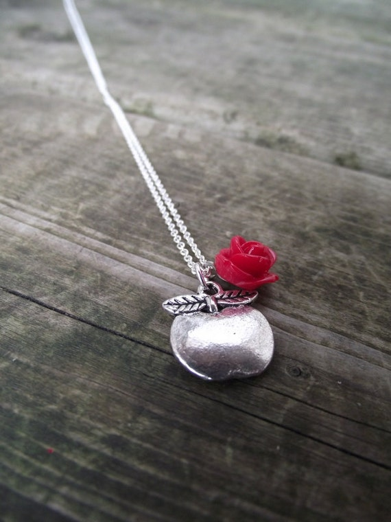THE CHARMED NECKLACE - Teacher Appreciation (you choose add-on rosette color)