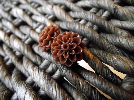 THE DAHLIA EARRINGS - Cinnamon Stick (clearance)