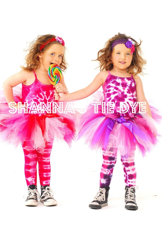 Ready to Ship TIe Dye cotton tights size 7-10