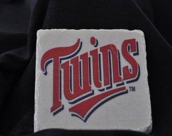 Minnesota Twins Coasters Set of 4 Handcrafted