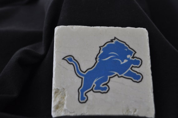Detroit Lions Coasters Set of 4 Handcrafted