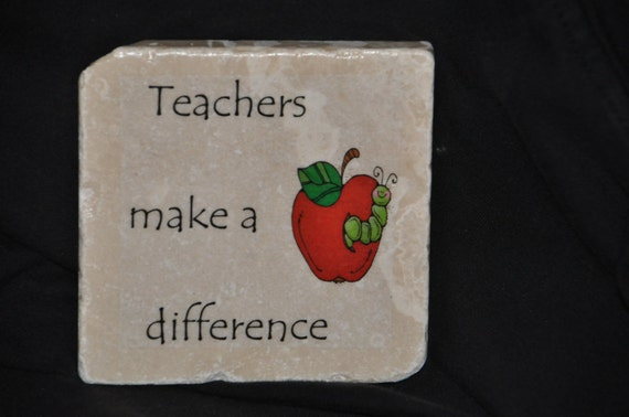 Teachers Make A Difference Coasters Set Or 4 Handcrafted