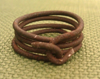 Men's Band or Women's Ring Handmade from Vintage Ranch Hay Bailing Wire