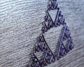 Sierpinksi Triangle Fractal Necklace in Purple