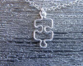 Small Silver Puzzle Pendant