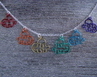 Puzzle Heart Charms - Custom, Made to Order -  Five Pieces