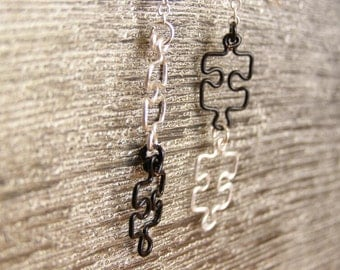 Puzzle Chain Earrings - Custom - Made to Order