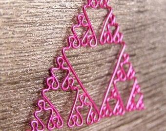 Fractal Necklace - Sierpinski Triangle in Fuchsia