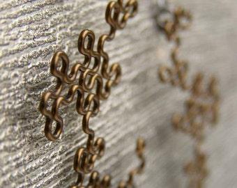 Fractal Earrings - Dragon Curves in Antiqued Bronze