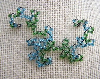 Fractal Necklace - Custom Beaded Dragon Curve - Made To Order