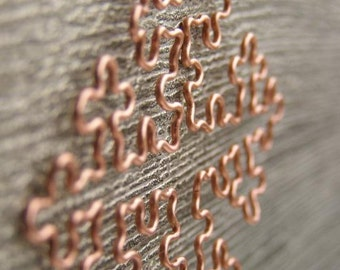 Fractal Necklace - Cesaro Fractal in Raw Copper