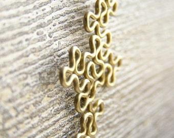 Fractal Necklace - Terdragon in Brass
