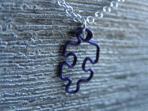Small Orchid Puzzle Pendant