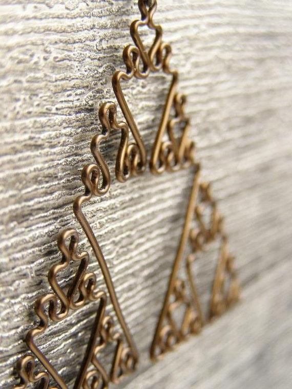 Sierpinski Triangle - Fractal Necklace in Antiqued Bronze
