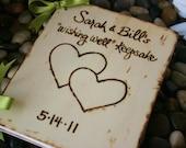 Custom Wedding Guest Book Wood Rustic Chic Wedding Bridal Shower Advice Anniversary Engagement Baby Shower Photo Album or Journal