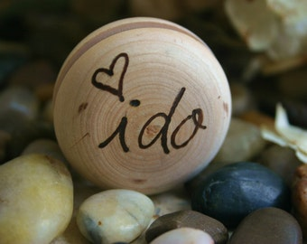 i Do Rustic Wedding Yo Yo Personalized with Couples Initials - Great Photo Prop for Bride and Groom and Bridal Party