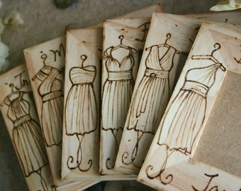 Bridesmaid Gifts Wearing Convertible Wrap Dress - Personalized Wedding Party Gifts - Set of 6 - Match THEIR Infinity Dress & Style