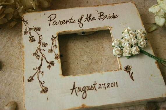 wedding gifts for parents of bride and groom set of 3 rustic chic
