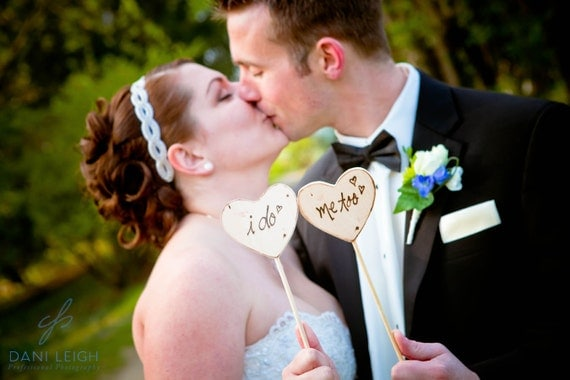 Wedding Photo Props Cake Toppers I do Me too SO perfect for your Photo Shootings Rustic Woodland Wedding Decoration