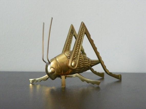 Mid-Century Brass Grasshopper