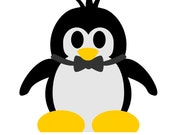 Playful Penguin SVG Cut files and PDF Templates