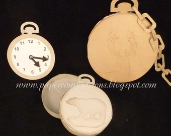 Pocket Watch Card  and Box SVG's, Cut Files, and Templates