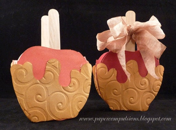 Caramel apple and pumpkin treat boxes SVGs