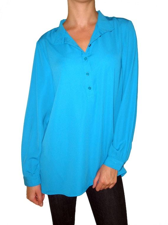 Womens Bright Blue Blouse 85