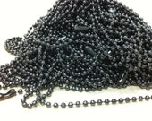 """300pcs colored ball chain necklace 24"""" ,2.4mm,6 colors mixed"""
