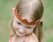 Tiara leather crown or headband hand carved for your little princess