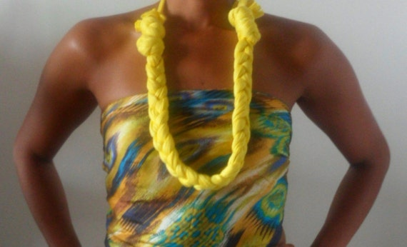 Necklace - Bright Yellow ON SALE 20%off Treasury Item