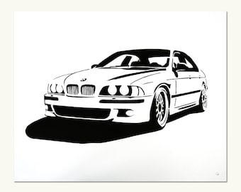 Classic Car Print - BMW e39 M5