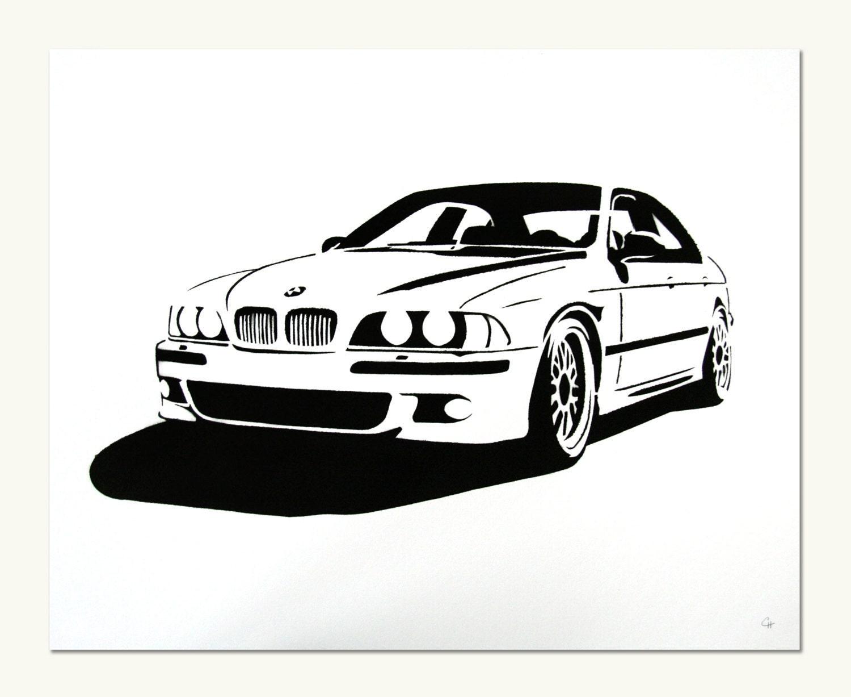 Classic Car Print Bmw E39 M5