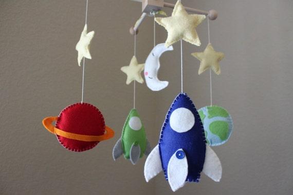 Baby Mobile Baby Crib Mobile Rocket Ship By Dropsofcolorshop