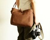 Studio Camera Bag Medium - water-repellent durable canvas - Brown
