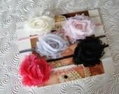 Set of 5 MINI Shabby Flower Headbands..Baby Girl Headband..baby headbands- Newborn Headband