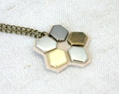 Geometry necklace, mixed colors,flower shape