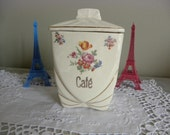 A  french vintage coffee canister