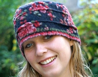 Romantic Hat with Rose Pattern