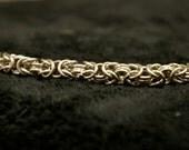 7 Inch Stainless Steel Byzantine Weave Bracelet