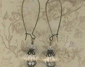 Bead Kit- Vintage Paris Crystal Quartz Glass Drop Earrings