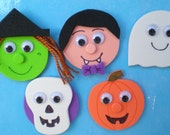 Halloween Characters Magnets, Magnetic Stories, Preschool Ideas for Halloween