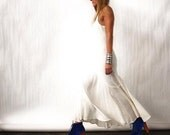 white maxi dress tiered