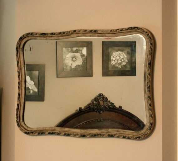 Reserved for Robyn  FREE SHIP Large vintage mirror 32X22.5