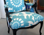 Vintage Fauteuil Chair with New Paint and Upholstery