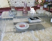 Vintage Lucite Credenza Coffee Table