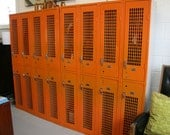 Vintage Orange High School Lockers