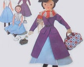 vintage McCalls 7432 MARY POPPINS doll sewing pattern (UNCUT) (60s)